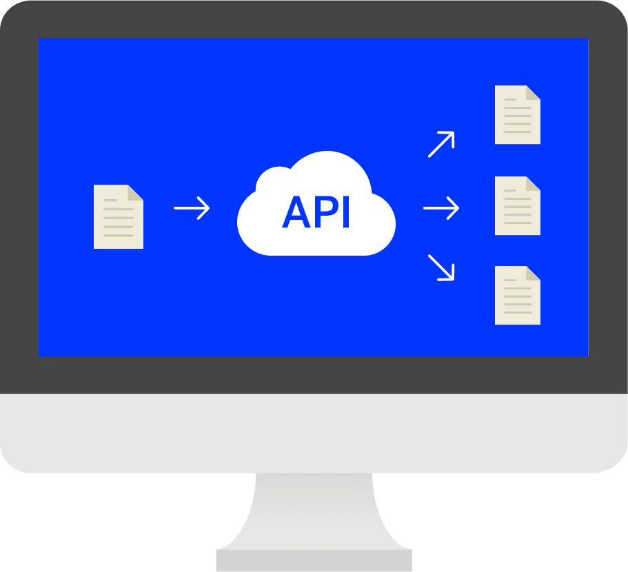 Illustration över ett API:s funktion